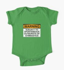 WARNUNG: GEGEN SPONTANE AUSGANG VON GYMNASTICS Baby Body Kurzarm