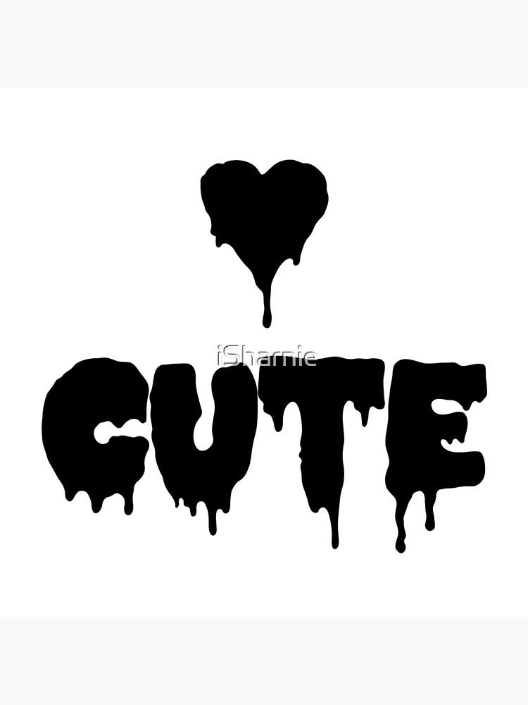 Niedliches Pastell Goth Punk Herz von iSharnie