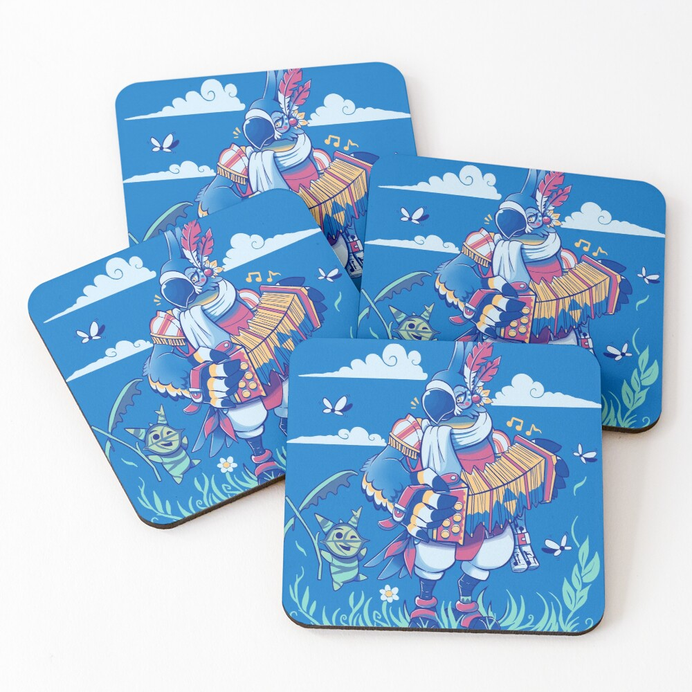 Play the Ancient Song Kass BotW Coasters (Set of 4)