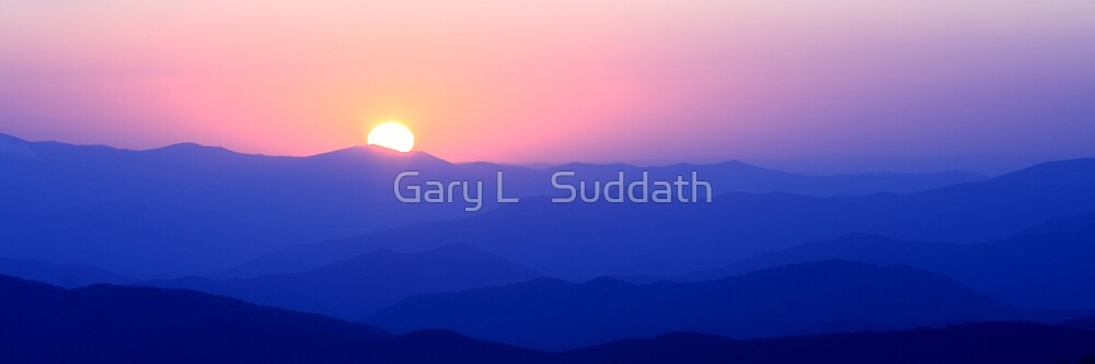 Mountain Sunset II by Gary L   Suddath