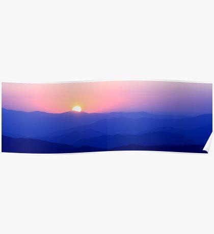 Mountain Sunset II Poster