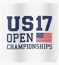 US OPEN 17 Championships Poster