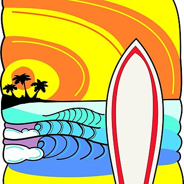 Surf's Up T-Shirt by colourfreestyle
