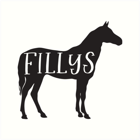 FILLYS (female horse sign perfect for toilets) with matching fillys by jazzydevil