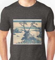 冨嶽三十六景 信州諏訪湖 - Lake Suwa in Shinano Province (Shinshū Suwako), from the series Thirty-six Views of Mount Fuji (Fugaku sanjūrokkei) T-Shirt