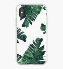 Banana Leaf #Watercolor Pattern #redbubble iPhone Case