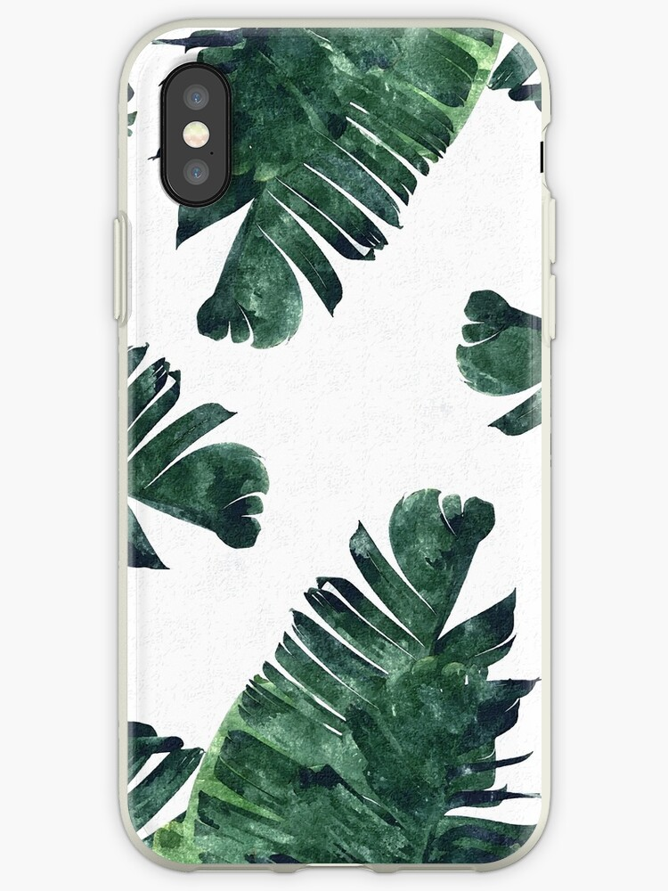 Bananen-Blatt #Watercolor Pattern # redbubble von 83oranges