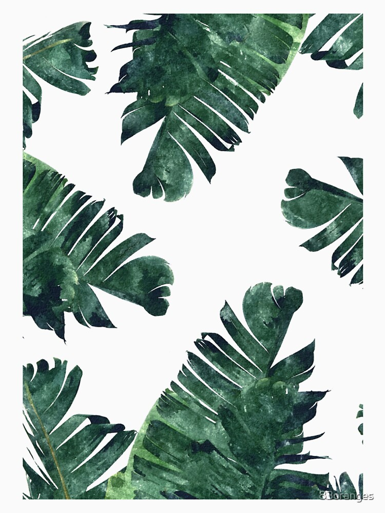 Bananen-Blatt #Watercolor Pattern # redbubble von 83oranges