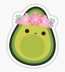 FLOWER CROWN AVOCADO Sticker