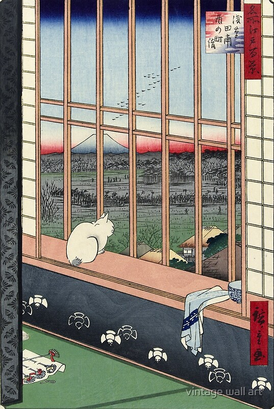 Consider, that asian print cat looking out window think, what
