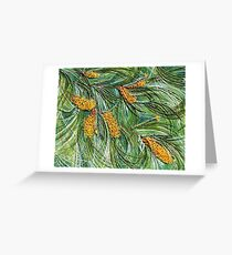 Golden Bottlebrush Greeting Card