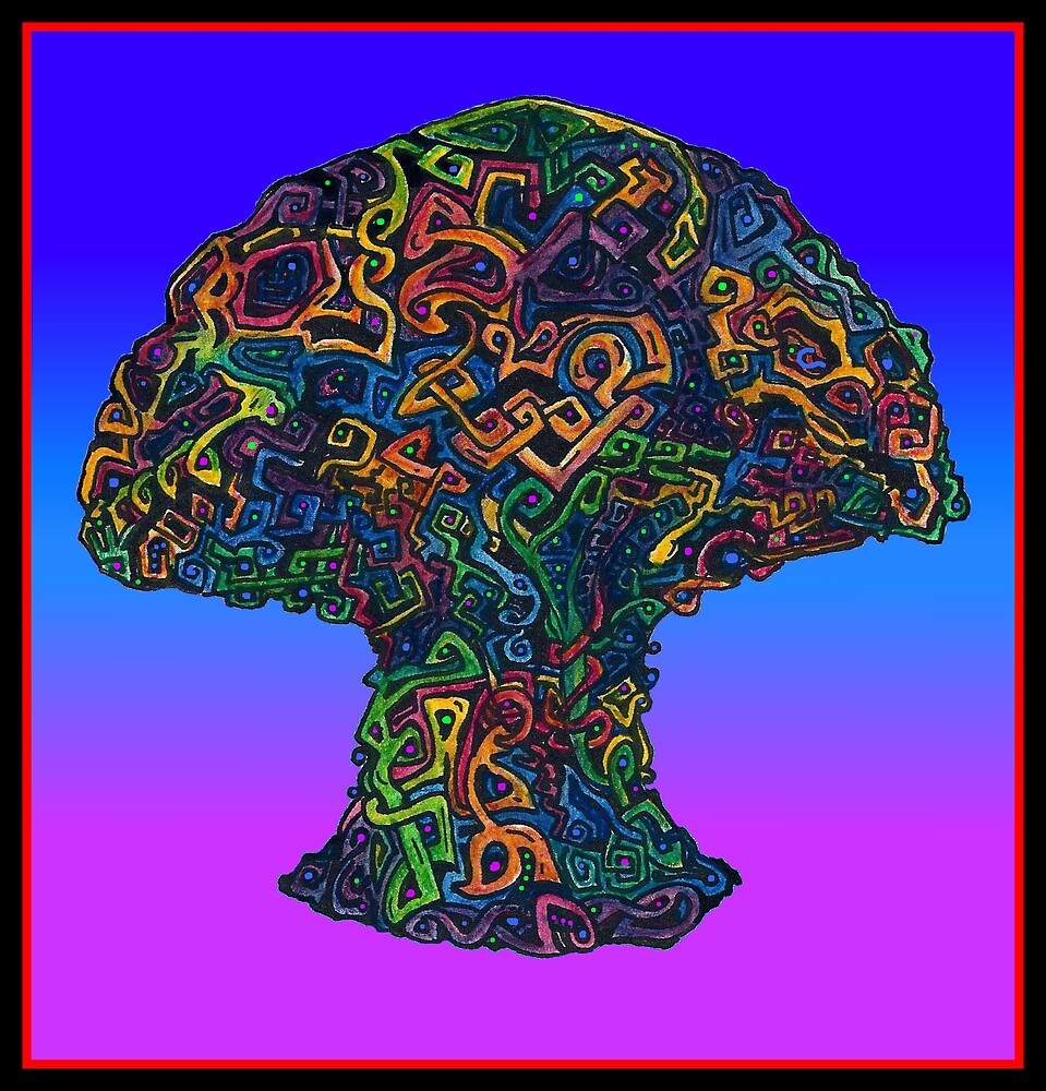 The Mushroom (Illustration)- by Robert Dye