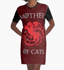 MOTHER OF CATS-GAME OF THRONES Graphic T-Shirt Dress