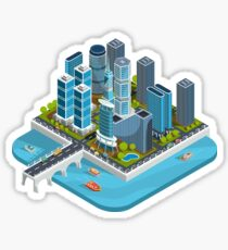 Isometric City Sticker