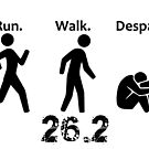 Run. Walk. Despair. 26.2 by Ellen Marcus