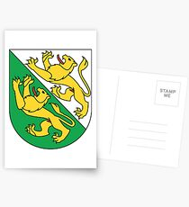 Coat of Arms of Canton of Thurgau, Switzerland Postcards