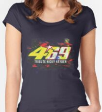 Valentino Rossi Tribute To Nicky Hayden Women's Fitted Scoop T-Shirt