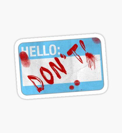 Don't Sticker