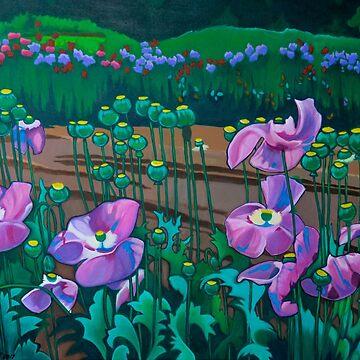 Purple Poppies by LottiDa