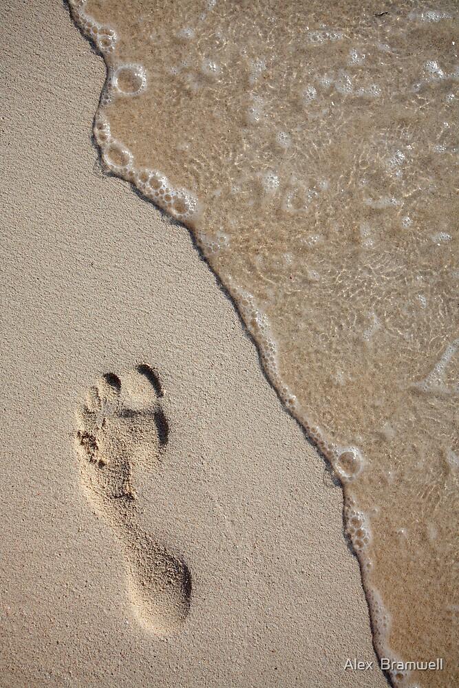 Footprint on the Beach by Alex  Bramwell
