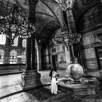 Inside the Hagia Sophia-2 by hayrettinsokmen