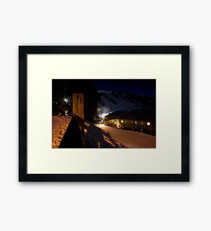 Falls Creek at night Framed Print