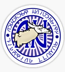 Sims 3 University Llama Mascot Logo Sticker