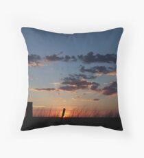 Simple Sundown Throw Pillow
