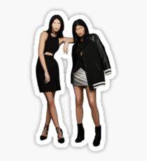Kylie & Kendall (Minimalist) Sticker