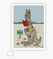 Kangaroo With His Library  Sticker