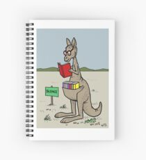 Kangaroo With His Library  Spiral Notebook
