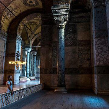 Inside the Hagia Sophia -3 by hayrettinsokmen
