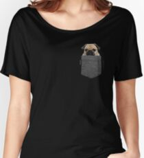 Dog in Your Pocket Tshirt Pug Shirt Women's Relaxed Fit T-Shirt