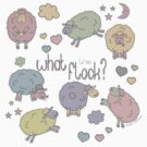 Funny Sheep What the Flock by IconicTee