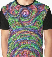 Green #DeepDream Graphic T-Shirt