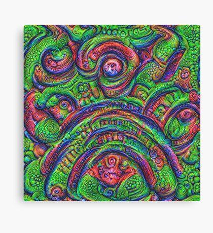 Green #DeepDream Canvas Print