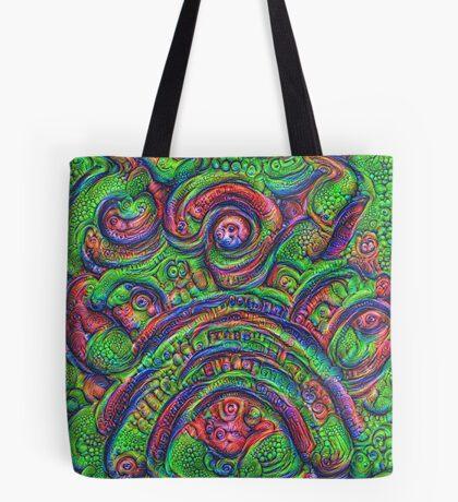 Green #DeepDream Tote Bag