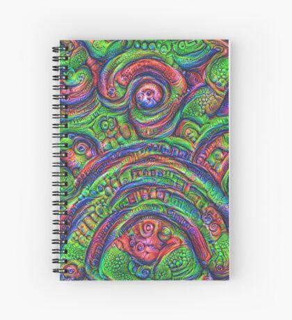 Green #DeepDream Spiral Notebook