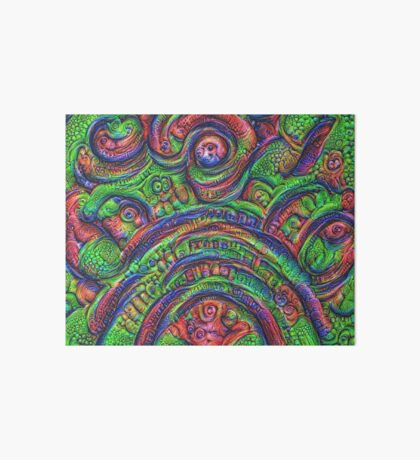 Green #DeepDream Art Board Print