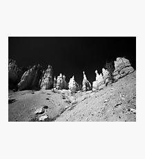 Sand Castle - Black and White, Travel Photography, Landscape Photographic Print