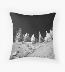 Sand Castle - Black and White, Travel Photography, Landscape Throw Pillow