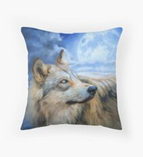 Wolf Glow Throw Pillow