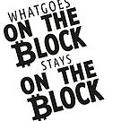 Blockchain - what Goes on The Block Stays on the Block by toonpunk