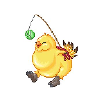 Pixel Fat Chocobo by maicakes