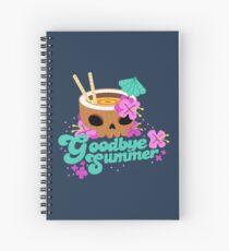 Goodbye Summer Spiral Notebook