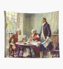 Writing The Declaration Of Independence Wall Tapestry