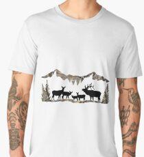 Elk Landscape Men's Premium T-Shirt