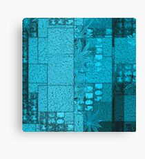 A Retro Pattern in Turquoise Canvas Print