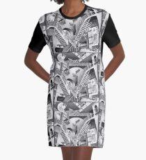 MC Escher Graphic T-Shirt Dress