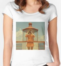 Moonrise Kingdom casttle Women's Fitted Scoop T-Shirt